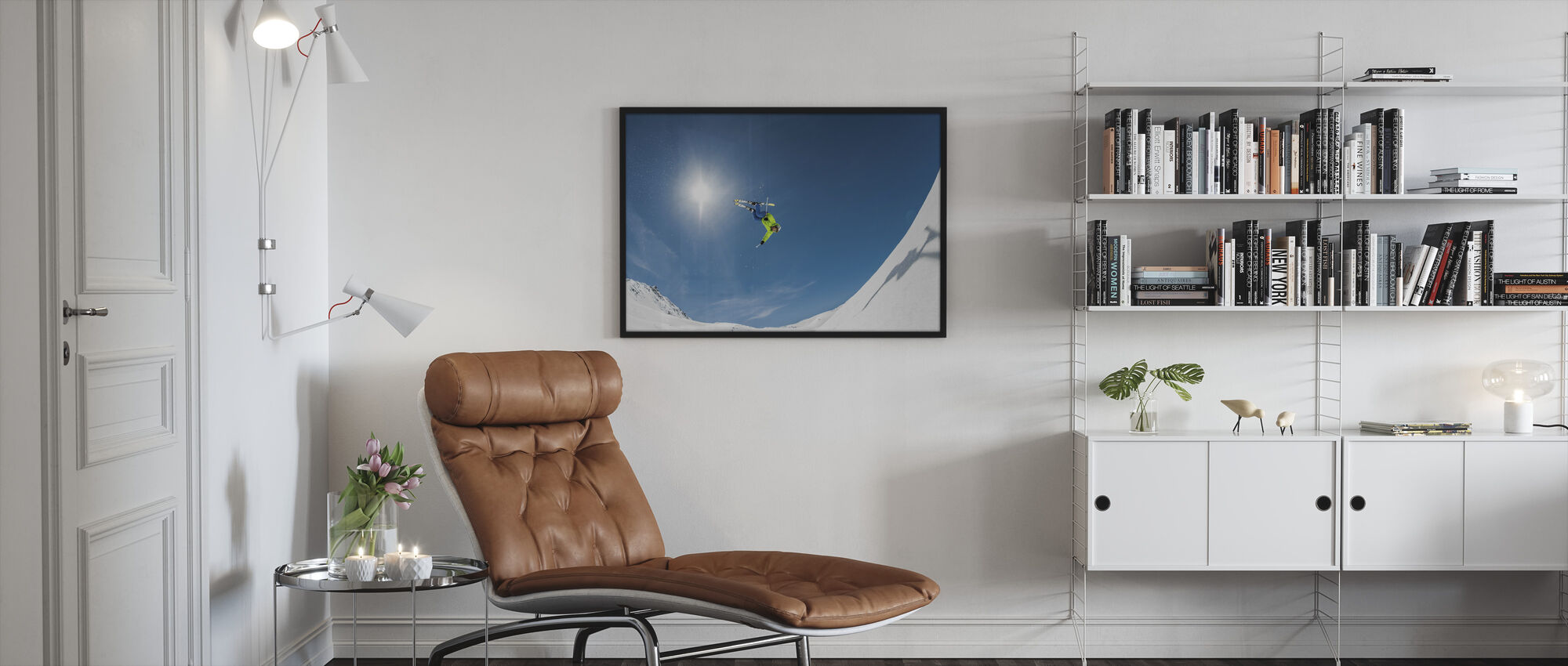 Backcountry Backflip - Framed print - Living Room