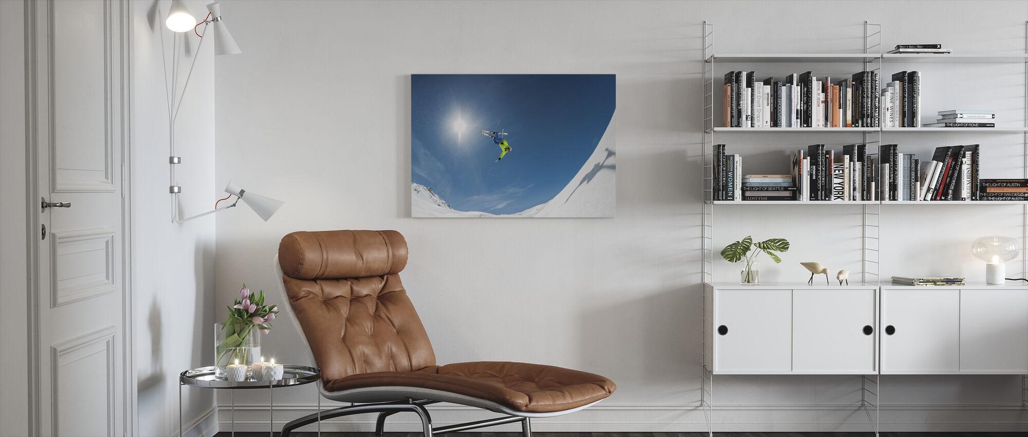 Backcountry Backflip - Canvas print - Woonkamer