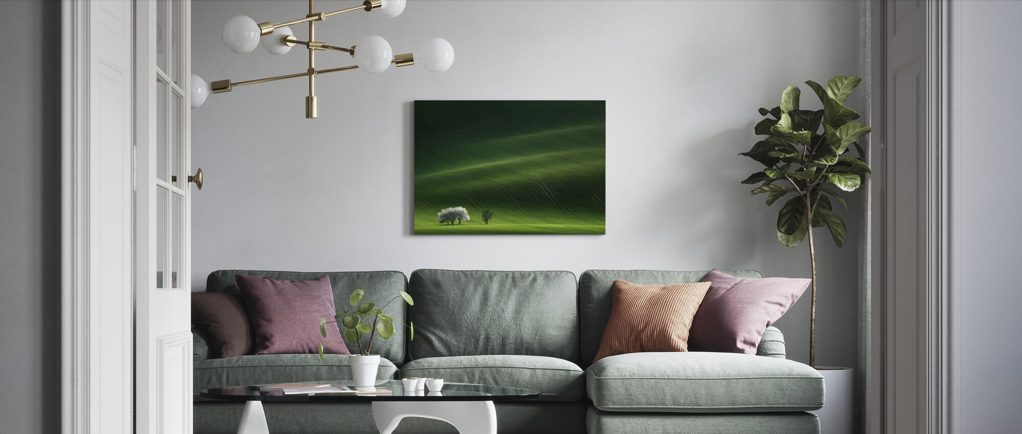Ladies in White - Canvas print - Living Room