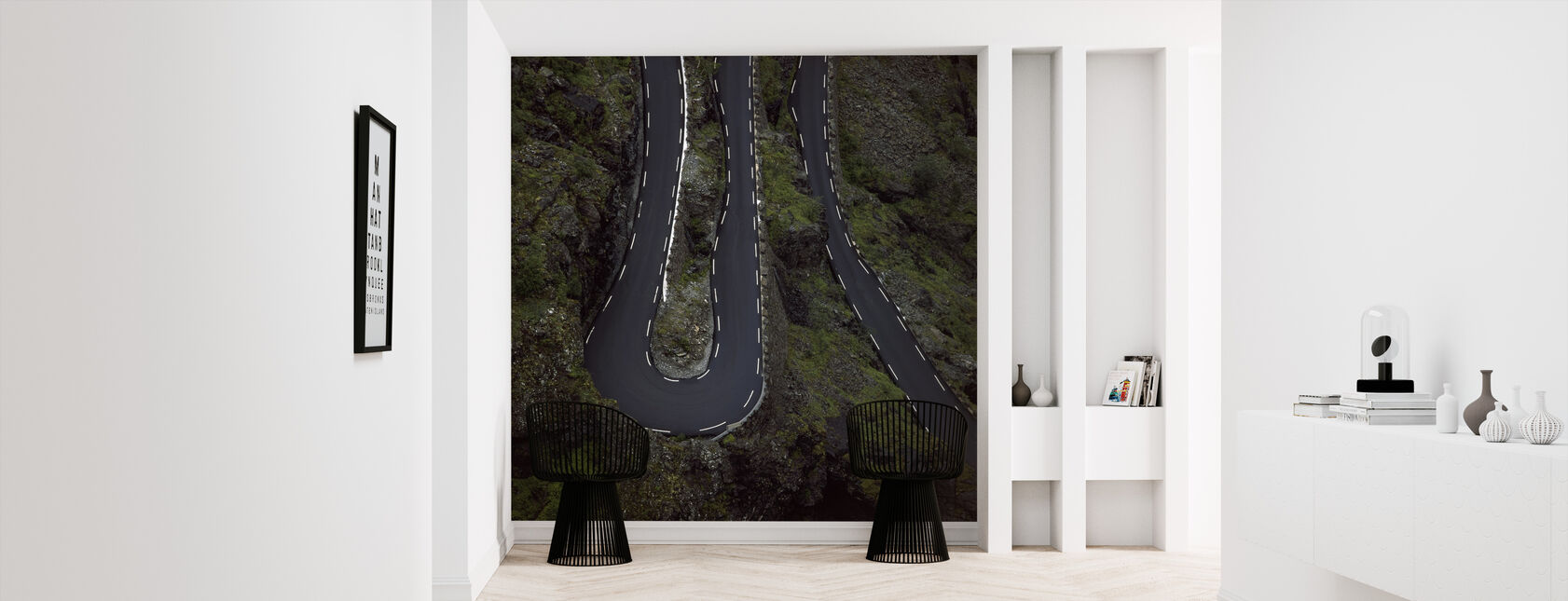 Trollstigen Curves in Rauma, Norway - Wallpaper - Hallway