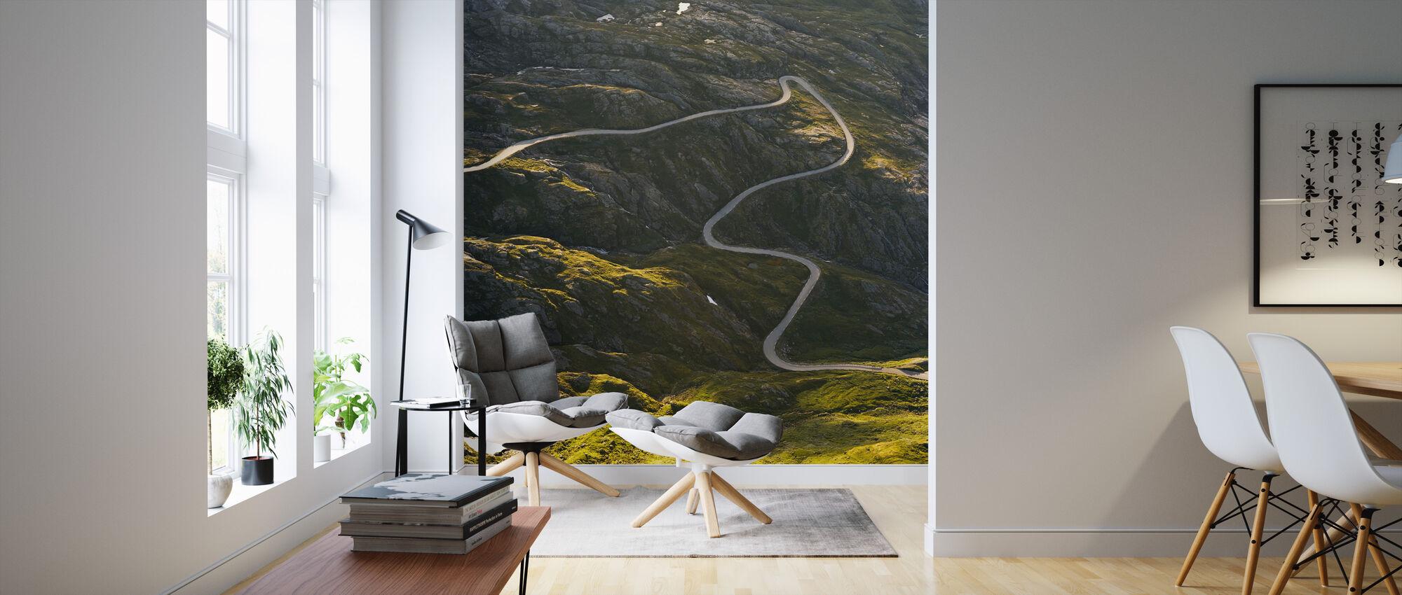 Dalsnibba w dolinie Geiranger, Norwegia - Tapeta - Pokój dzienny