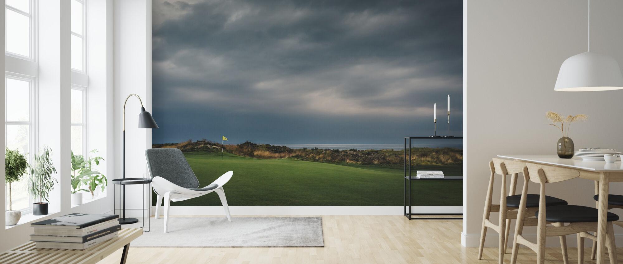 Golfbaan in Lofoten, Noorwegen - Behang - Woonkamer