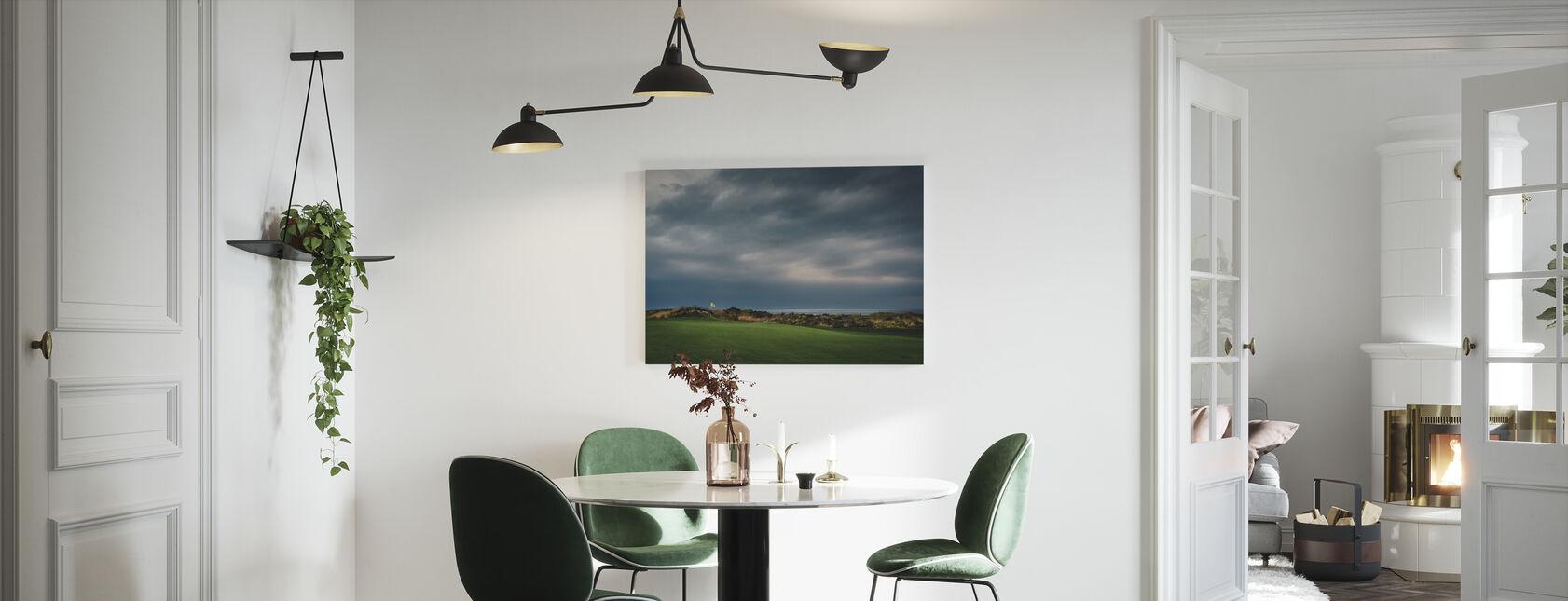 Golfbaan in Lofoten, Noorwegen - Canvas print - Keuken