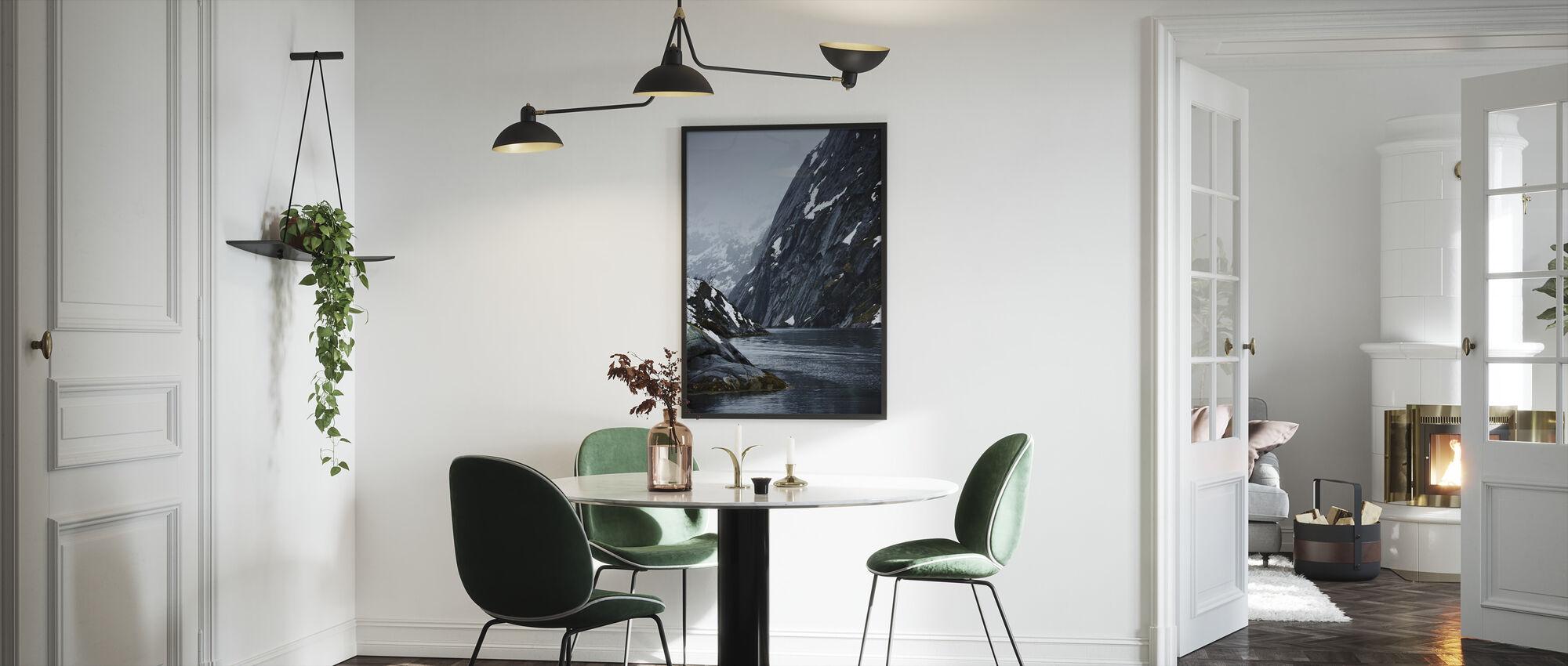 Trollsundet in Lofoten, Norway - Framed print - Kitchen