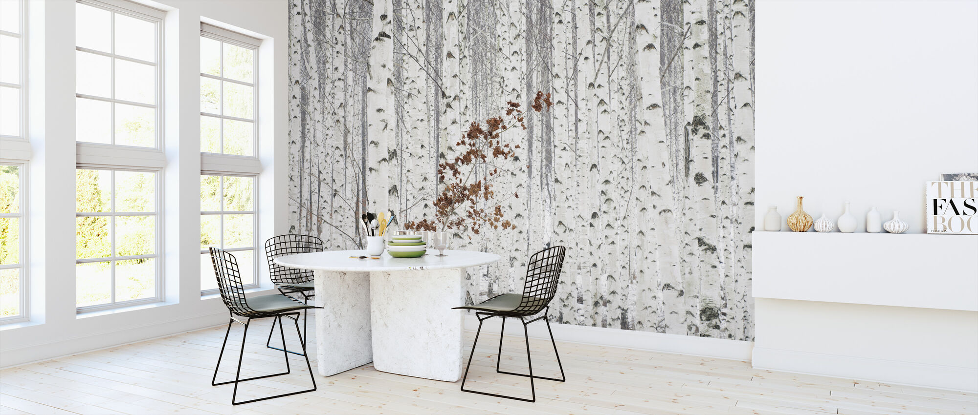 From White - Wallpaper - Kitchen