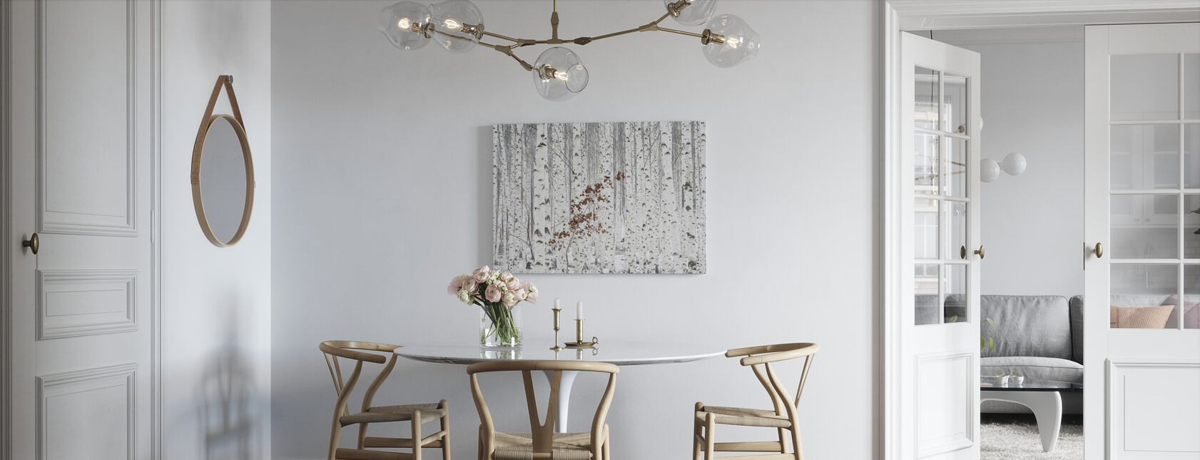 From White - Canvas print - Kitchen