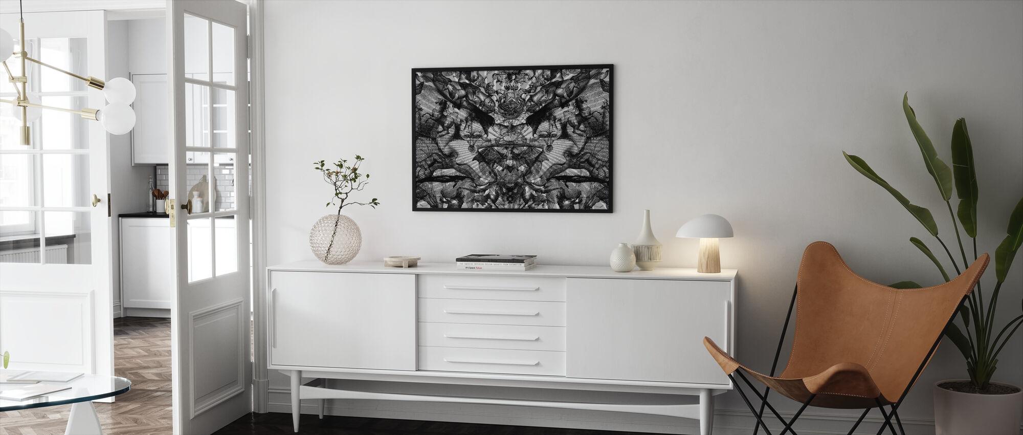 Horschach Circus - Framed print - Living Room