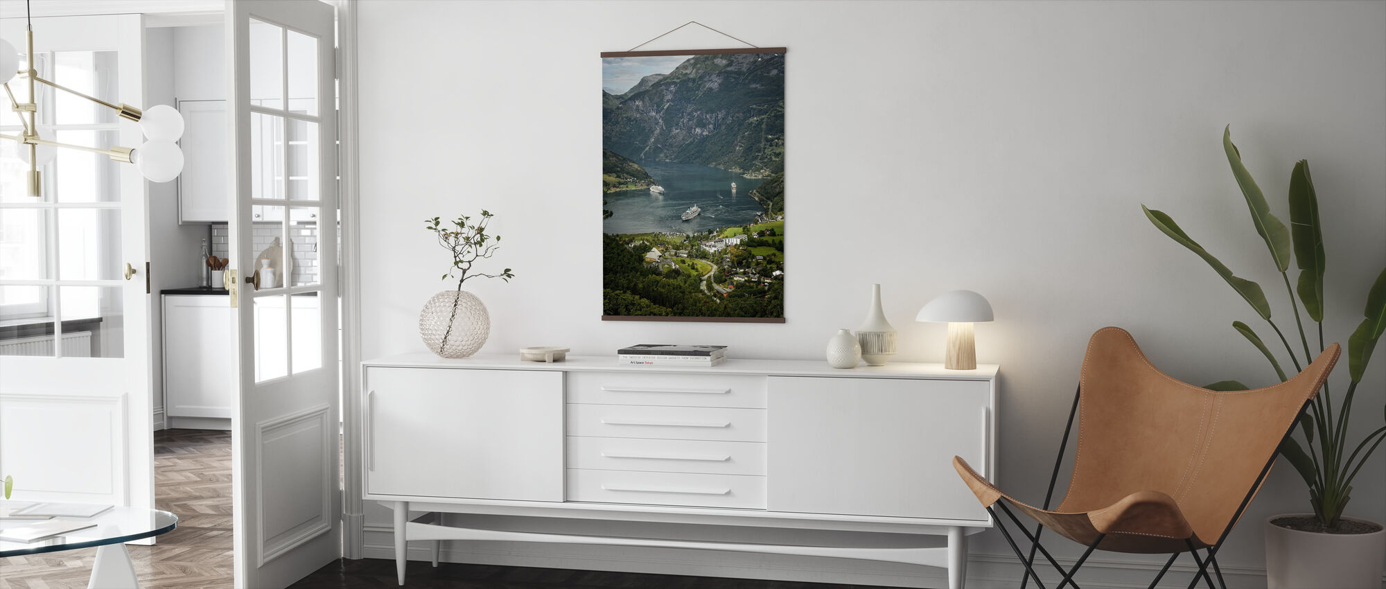 Boats in Geirangerfjord, Norway - Poster - Living Room