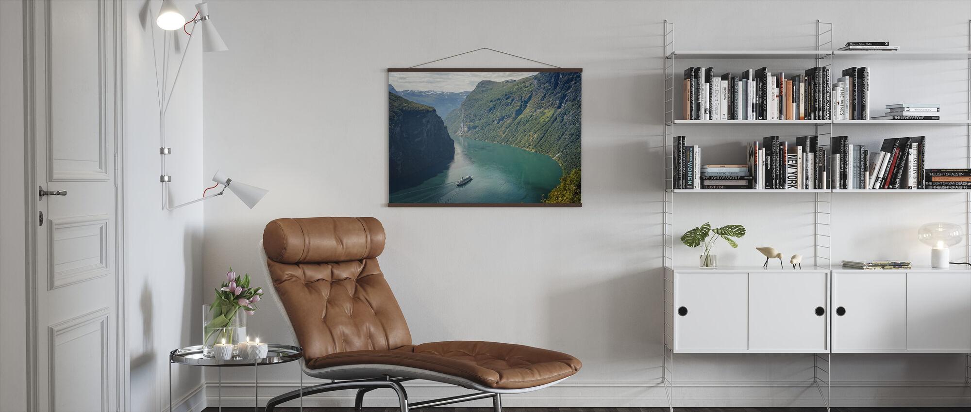 Geirangerfjorden, Norge - Plakat - Stue