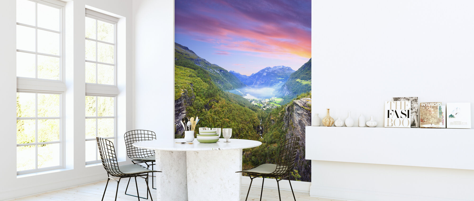 Pink Clouds over Geirangerfjord, Norway - Wallpaper - Kitchen