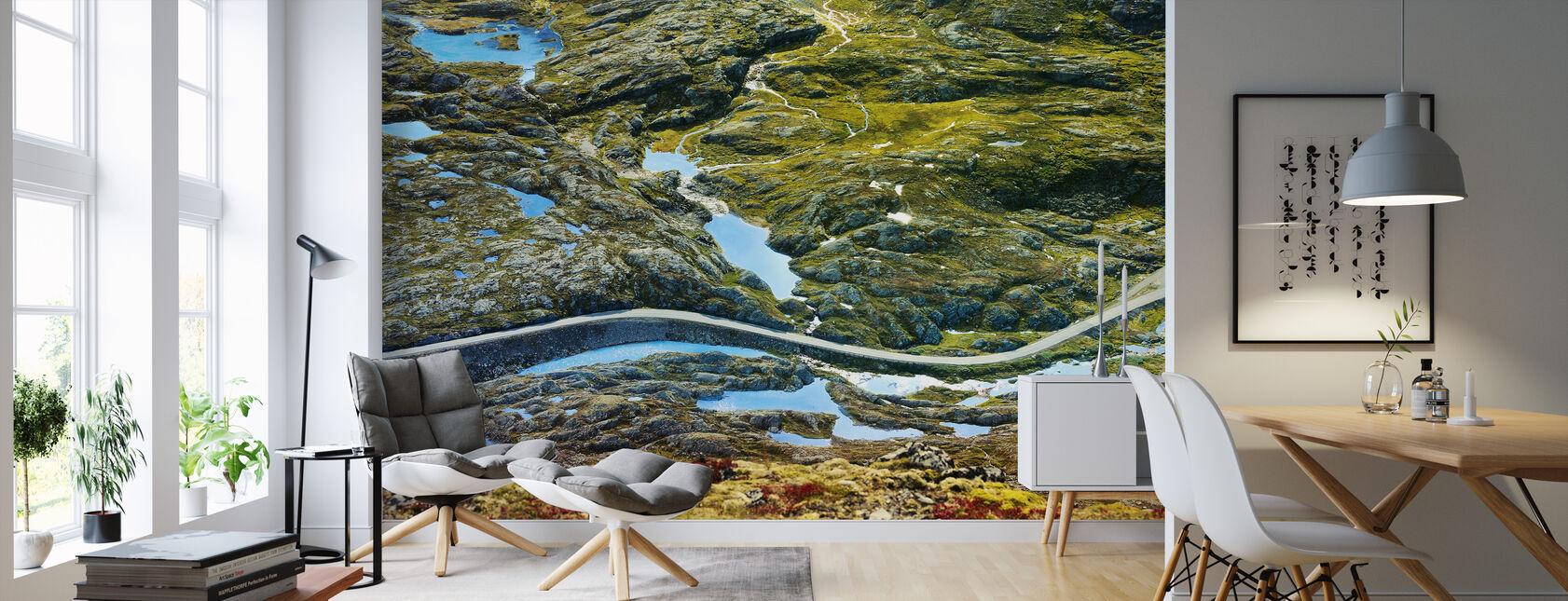 Droga w Geiranger, Norwegia - Tapeta - Pokój dzienny
