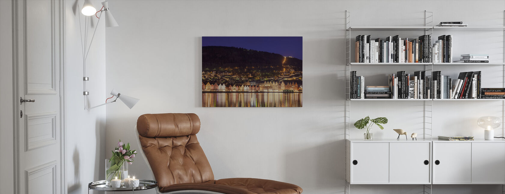 Colorful Houses of Bergen, Norway - Canvas print - Living Room