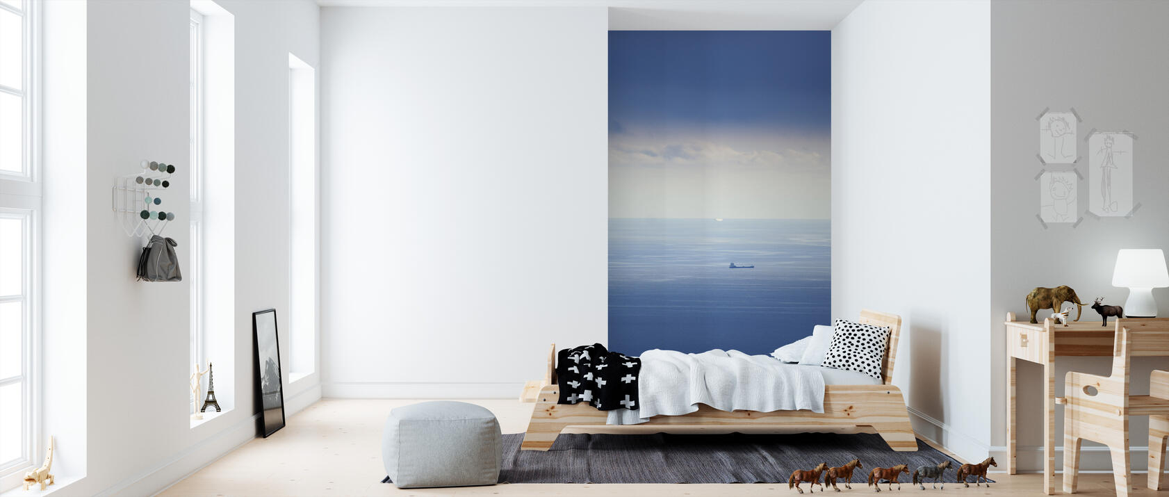 ship in mediterranean sea preiswerte fototapete photowall. Black Bedroom Furniture Sets. Home Design Ideas
