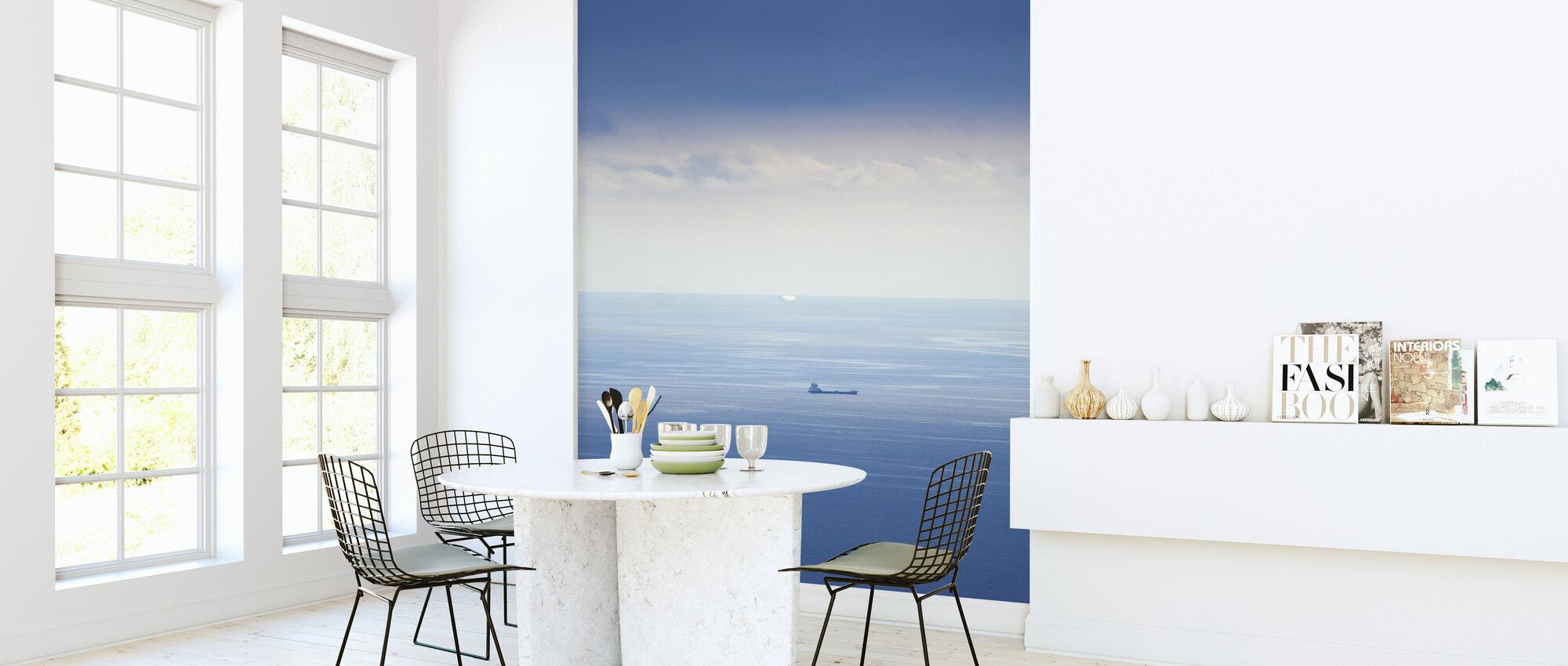 Ship in Mediterranean Sea - Wallpaper - Kitchen