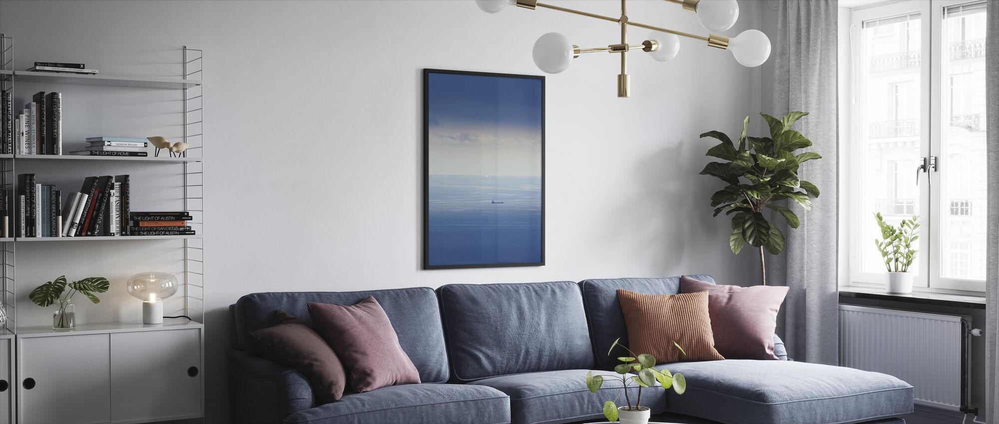 Ship in Mediterranean Sea - Framed print - Living Room