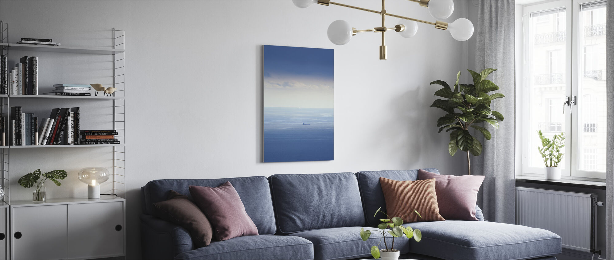 Ship in Mediterranean Sea - Canvas print - Living Room