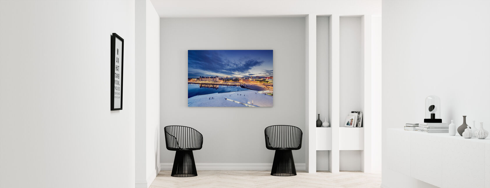 View from Oslo Opera House at Night - Canvas print - Hallway