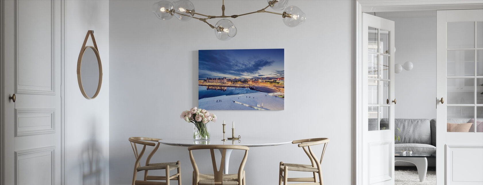 View from Oslo Opera House at Night - Canvas print - Kitchen