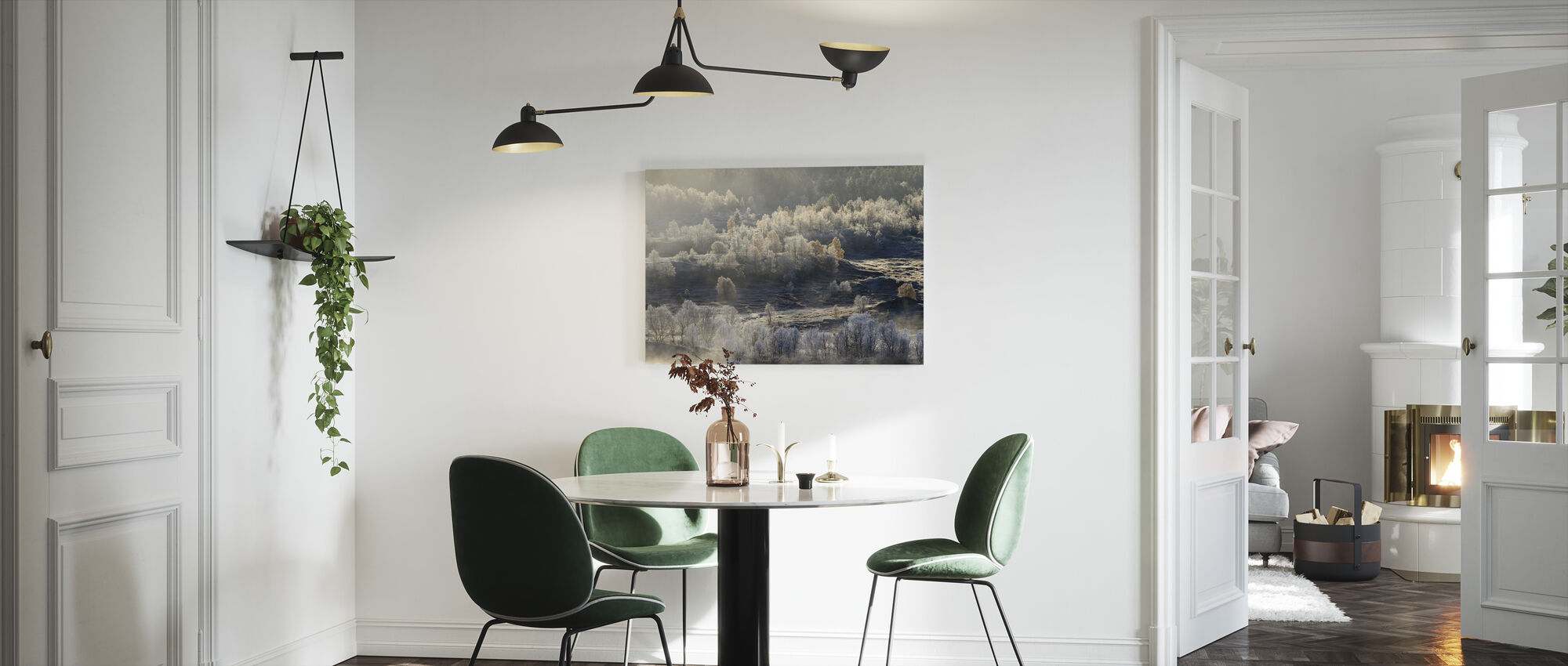 Norwegian Landscape Covered in Autumn Frost - Canvas print - Kitchen