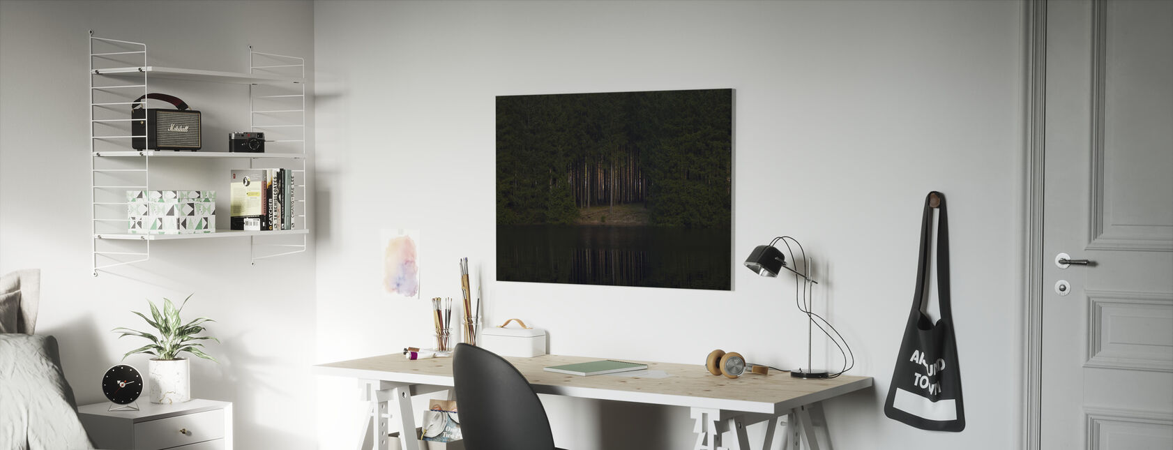 Glade Reflecting in Still Water - Canvas print - Kids Room