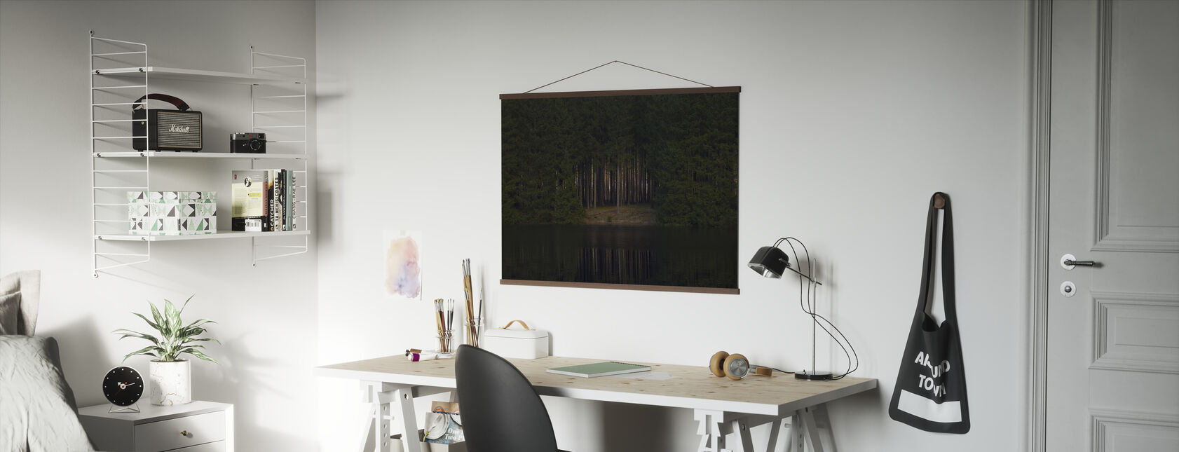 Glade Reflecting in Still Water - Poster - Office