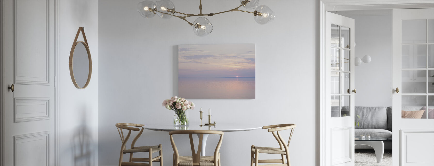Light Pink Sea - Canvas print - Kitchen
