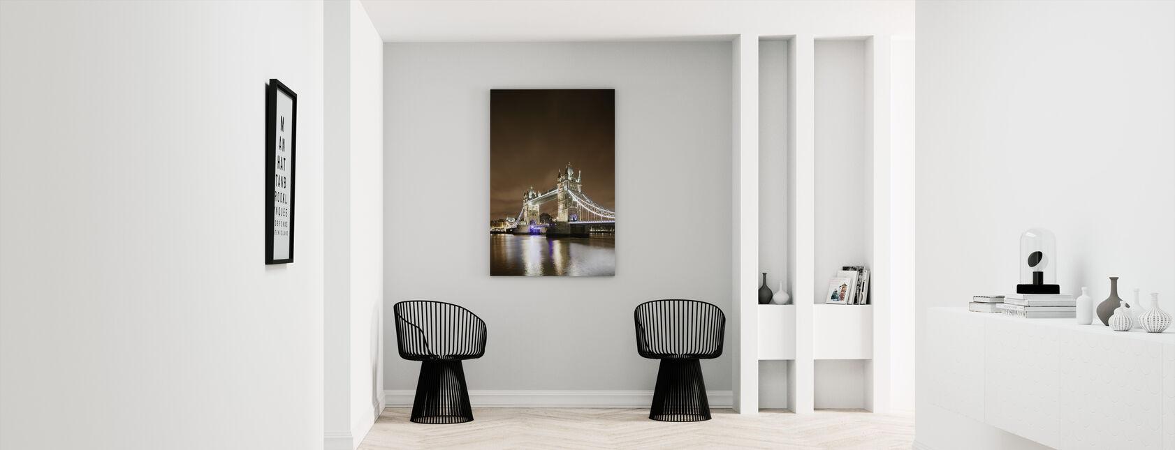Tower Bridge - Purple Light - Canvas print - Hallway