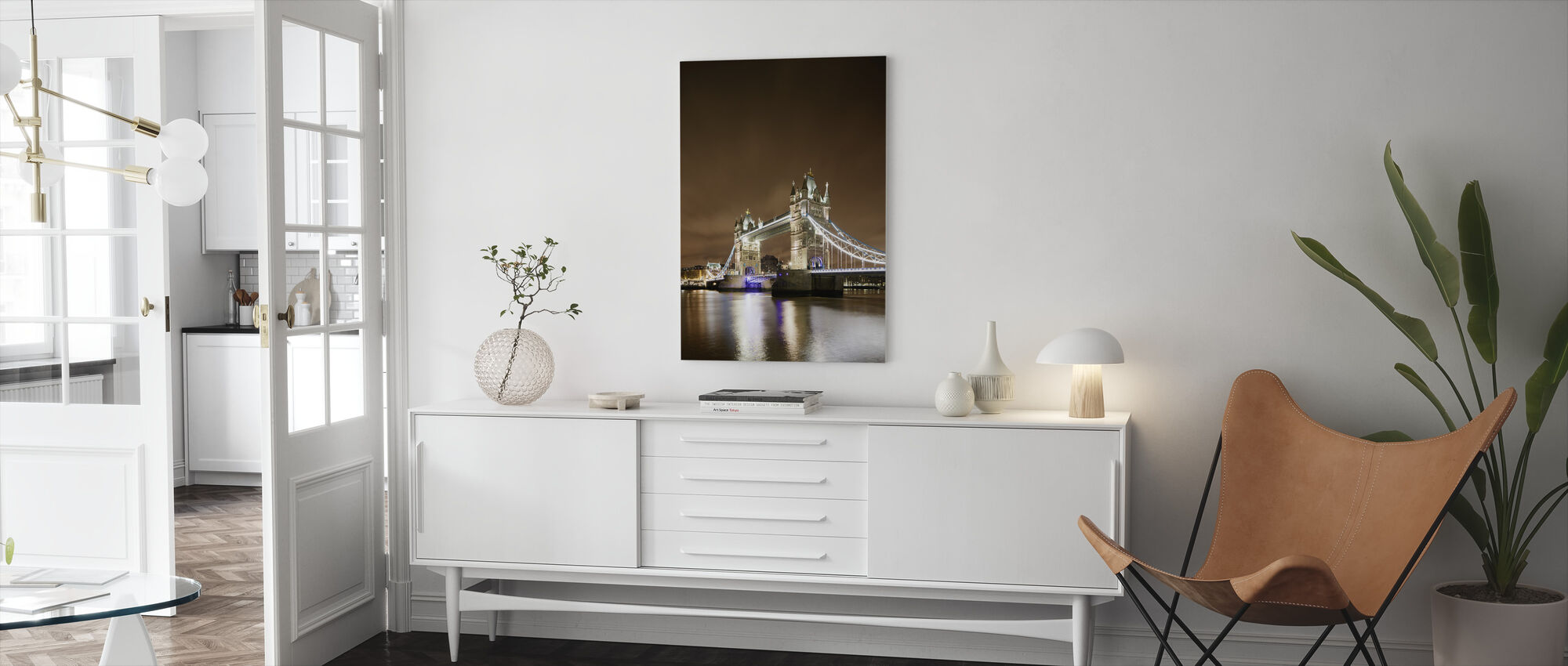 Tower Bridge - Purple Light - Canvas print - Living Room