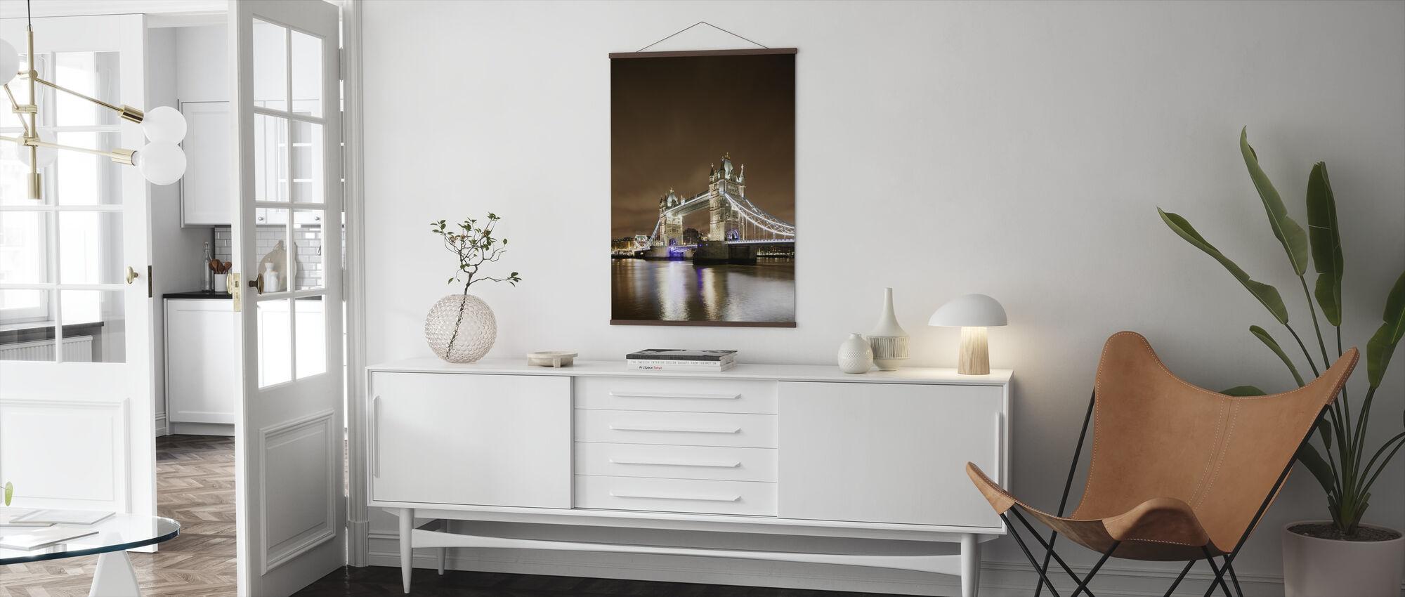 Tower Bridge - Purple Light - Poster - Living Room