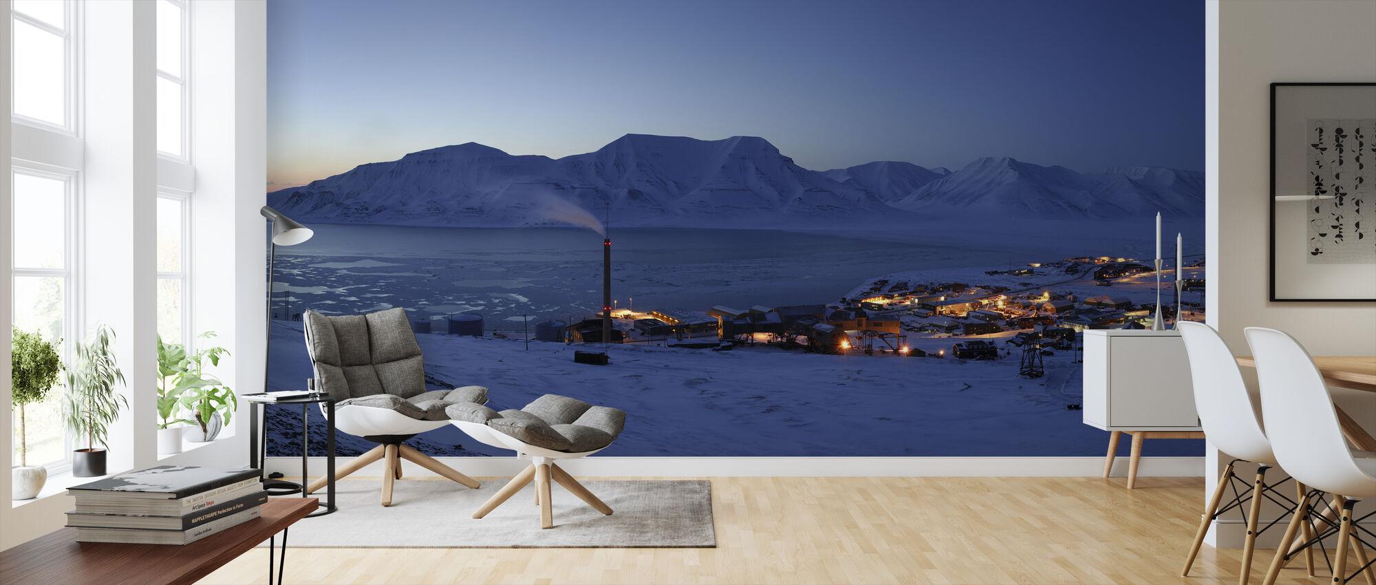 Longyearbyen by Night, Svalbard II - Wallpaper - Living Room