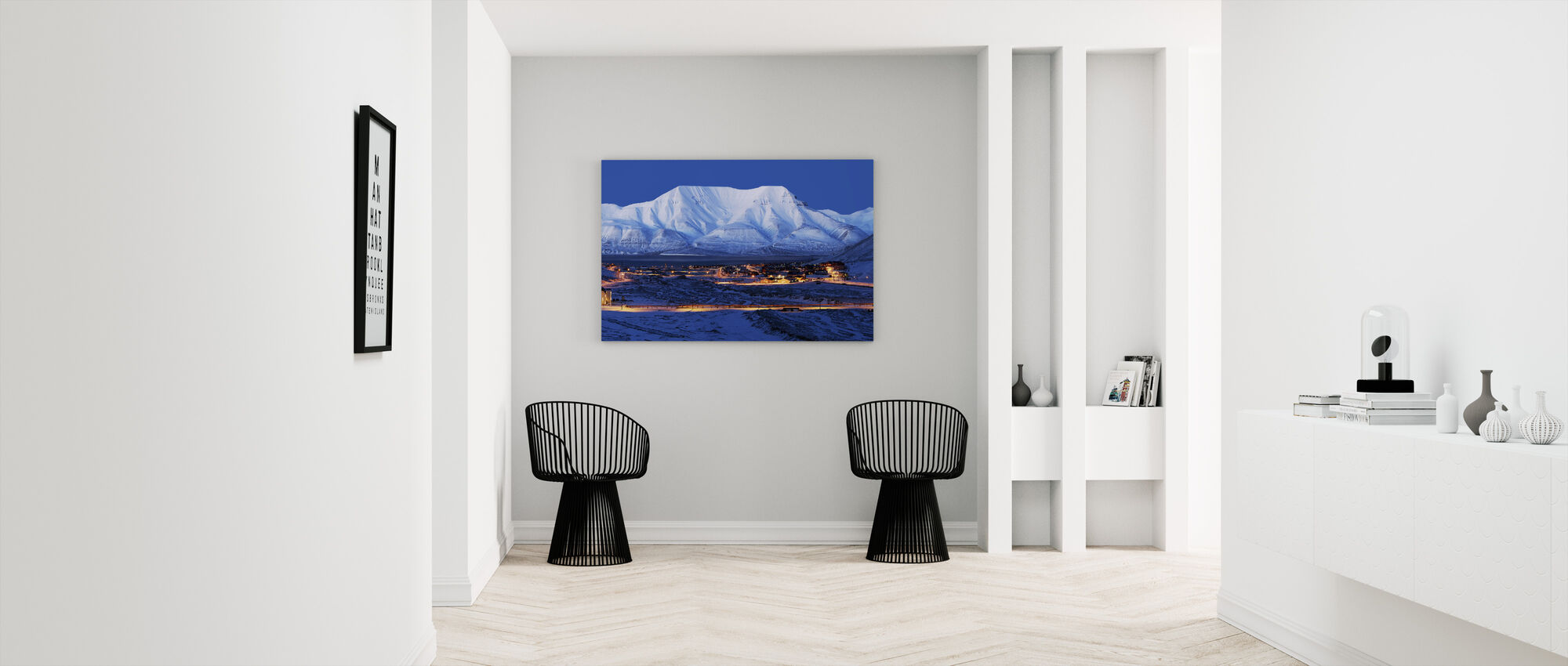 Longyearbyen by Night, Svalbard III - Canvas print - Hallway