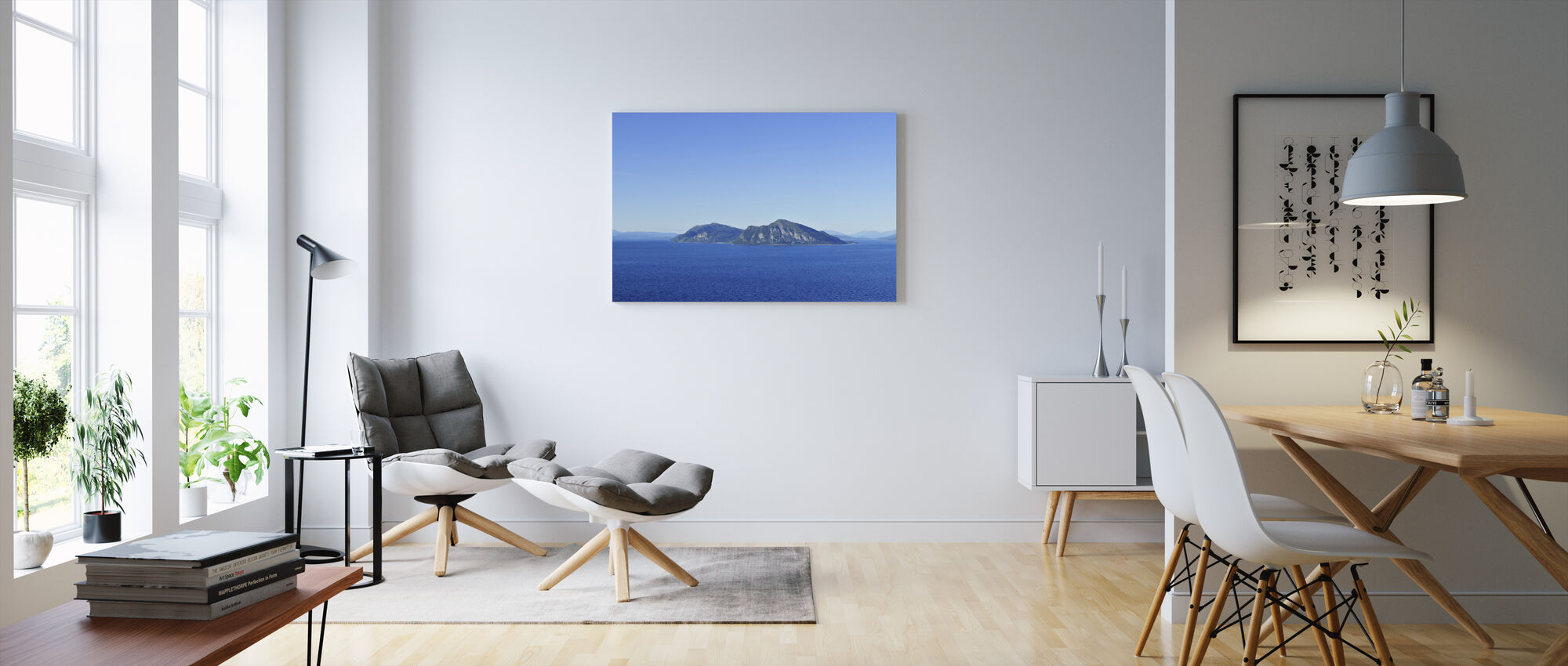 Vågsfjorden Panorama, Norway - Canvas print - Living Room