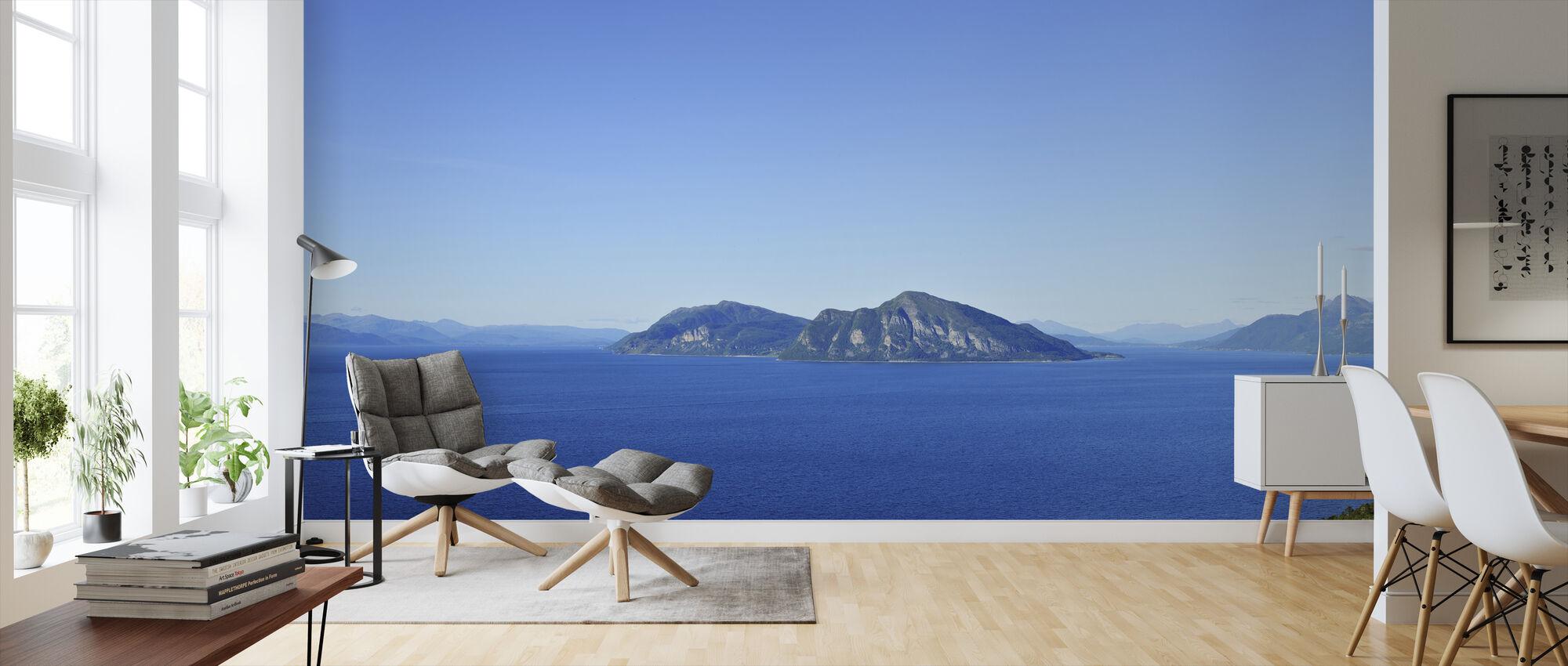 Vågsfjorden Panorama, Norway - Wallpaper - Living Room
