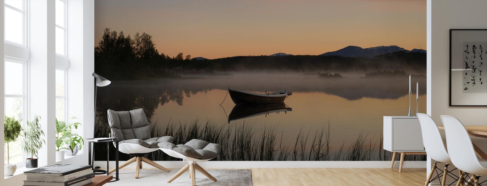 Fredelig kveld ved innsjøen, Senja Norge - Tapet - Stue