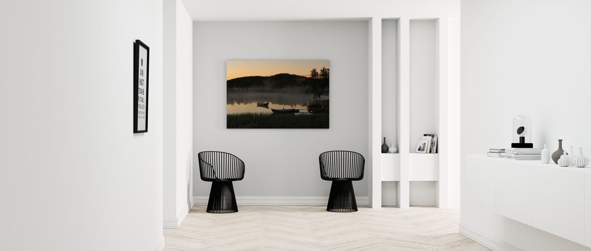 Old Cabin by the Lake, Senja Norway - Canvas print - Hallway