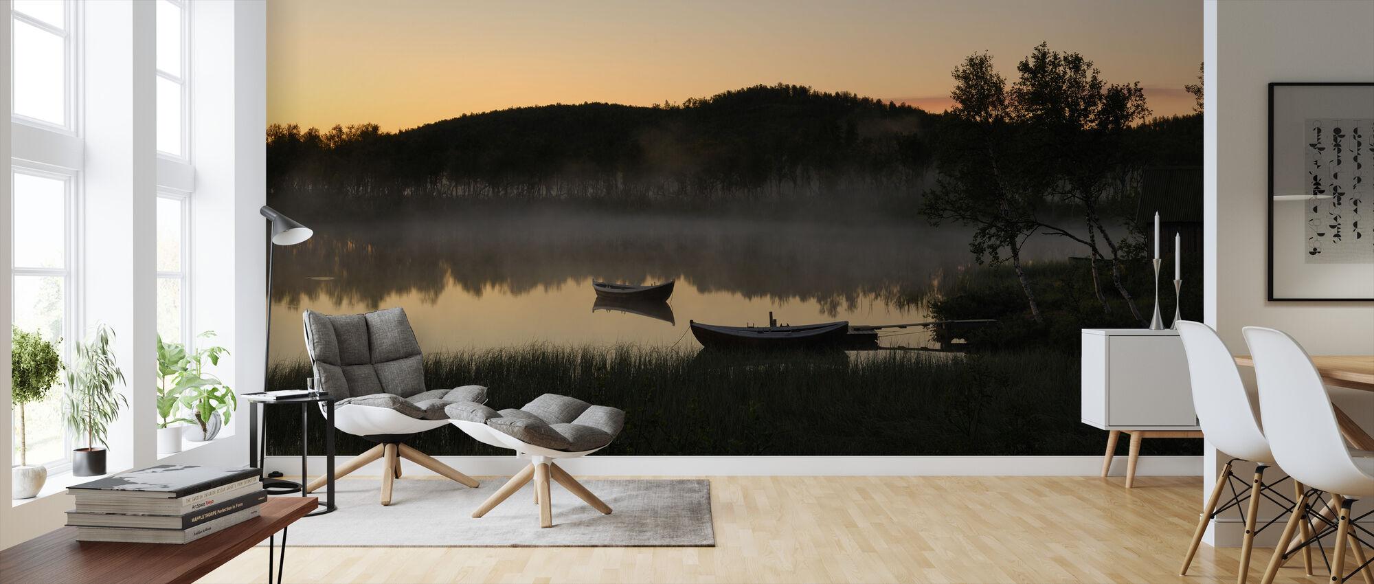 Gamle hytte ved søen, Senja Norge - Tapet - Stue
