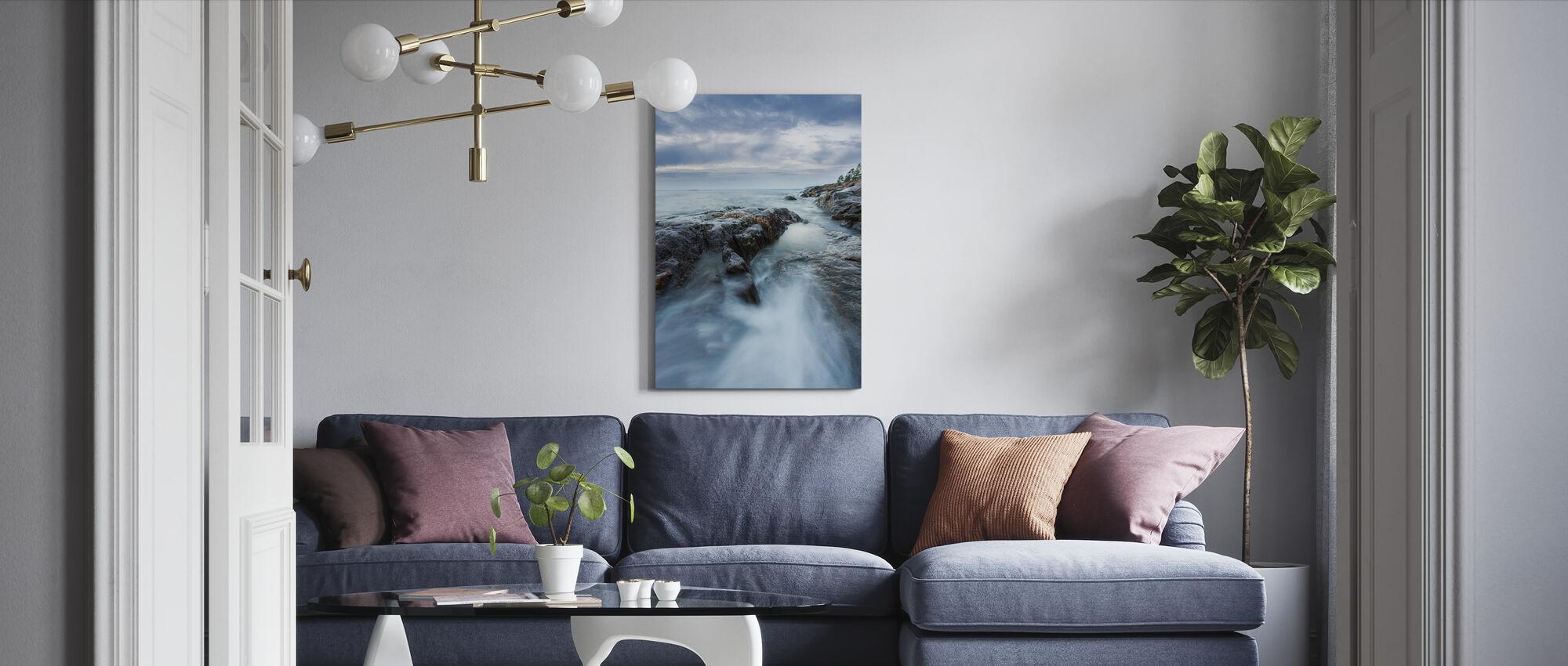 Rocks in Baltic Sea - Canvas print - Living Room