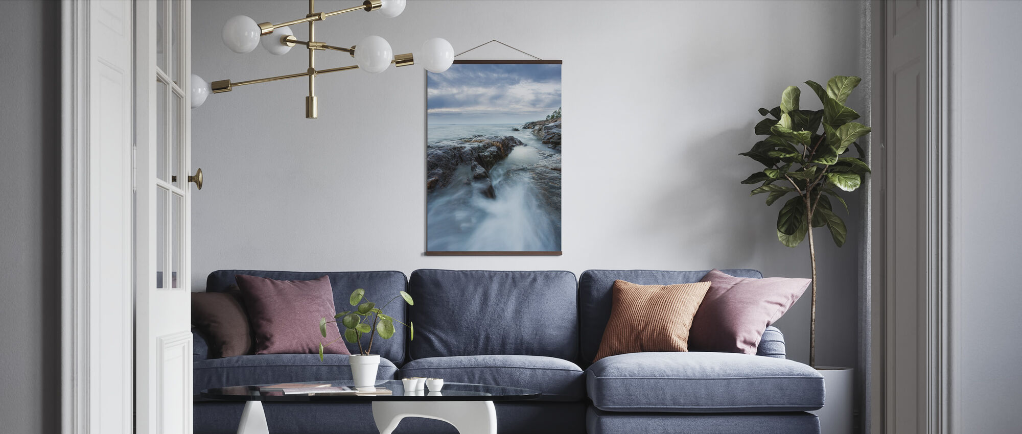 Rocks in Baltic Sea - Poster - Living Room