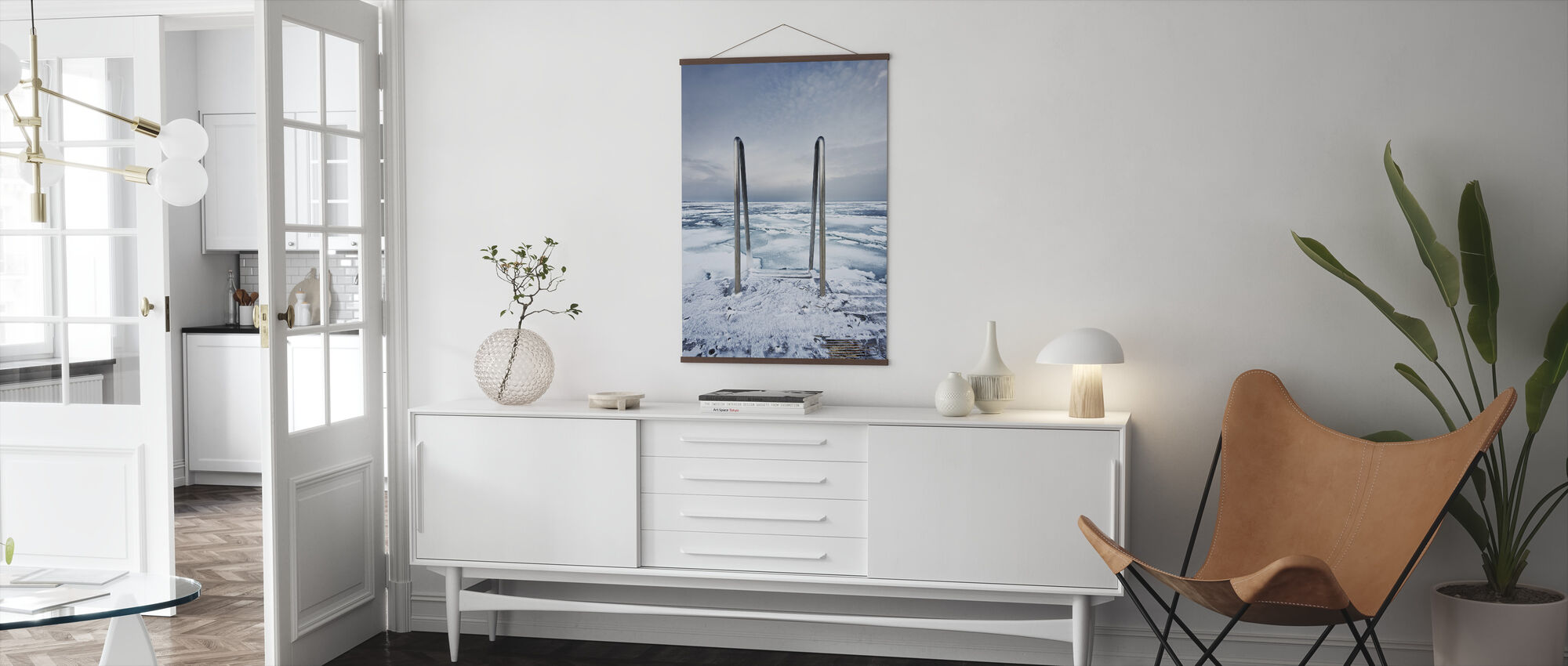Icy Ladder and Horizon - Poster - Living Room