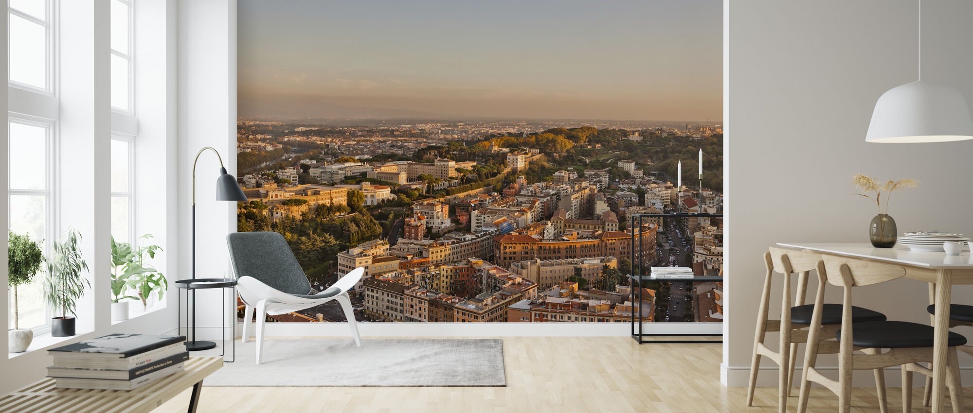 Rome Cityscape - Wallpaper - Living Room