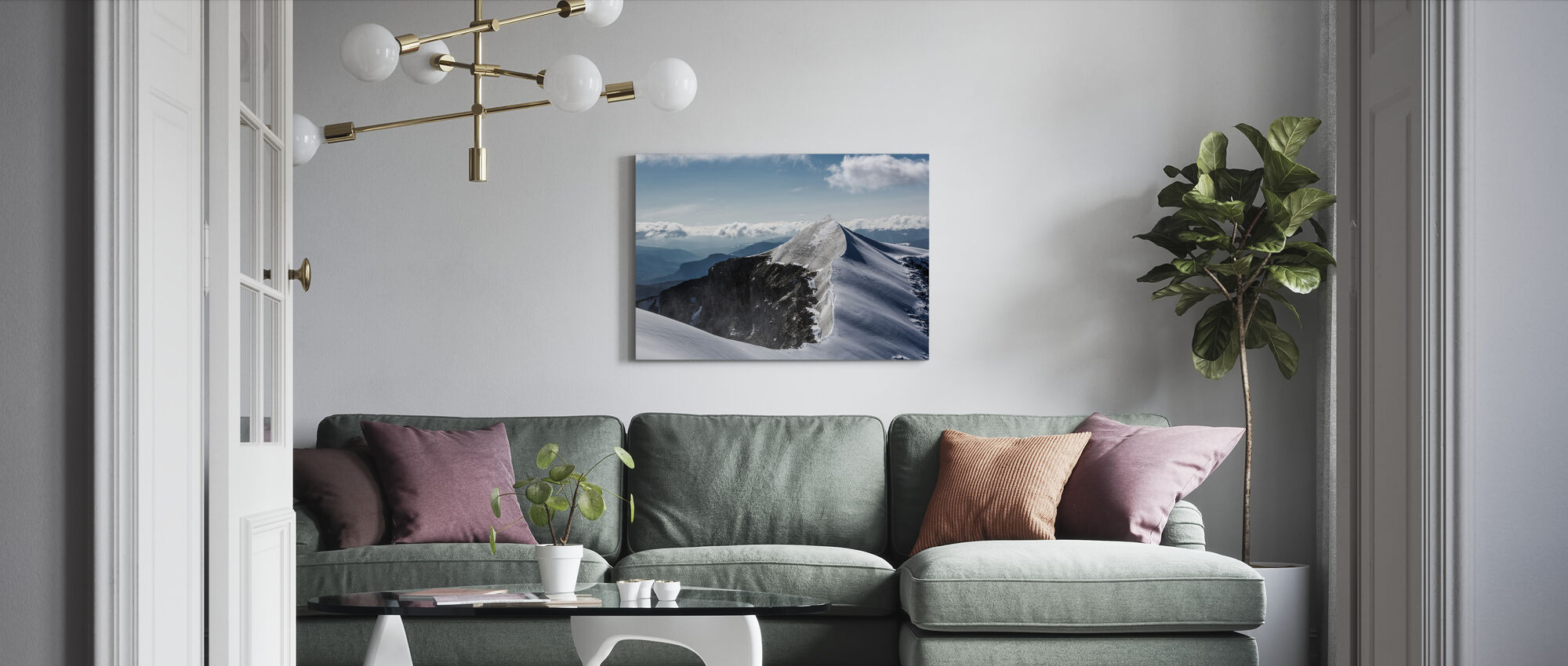 Kebnekaise in Bright Light - Canvas print - Living Room