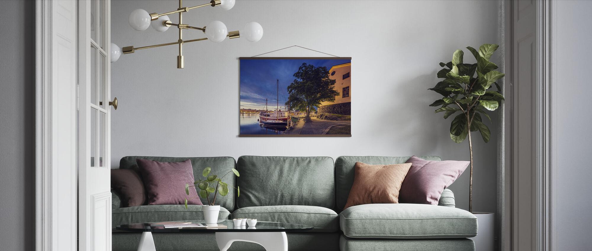 Boats at Dusk, Stockholm - Poster - Living Room