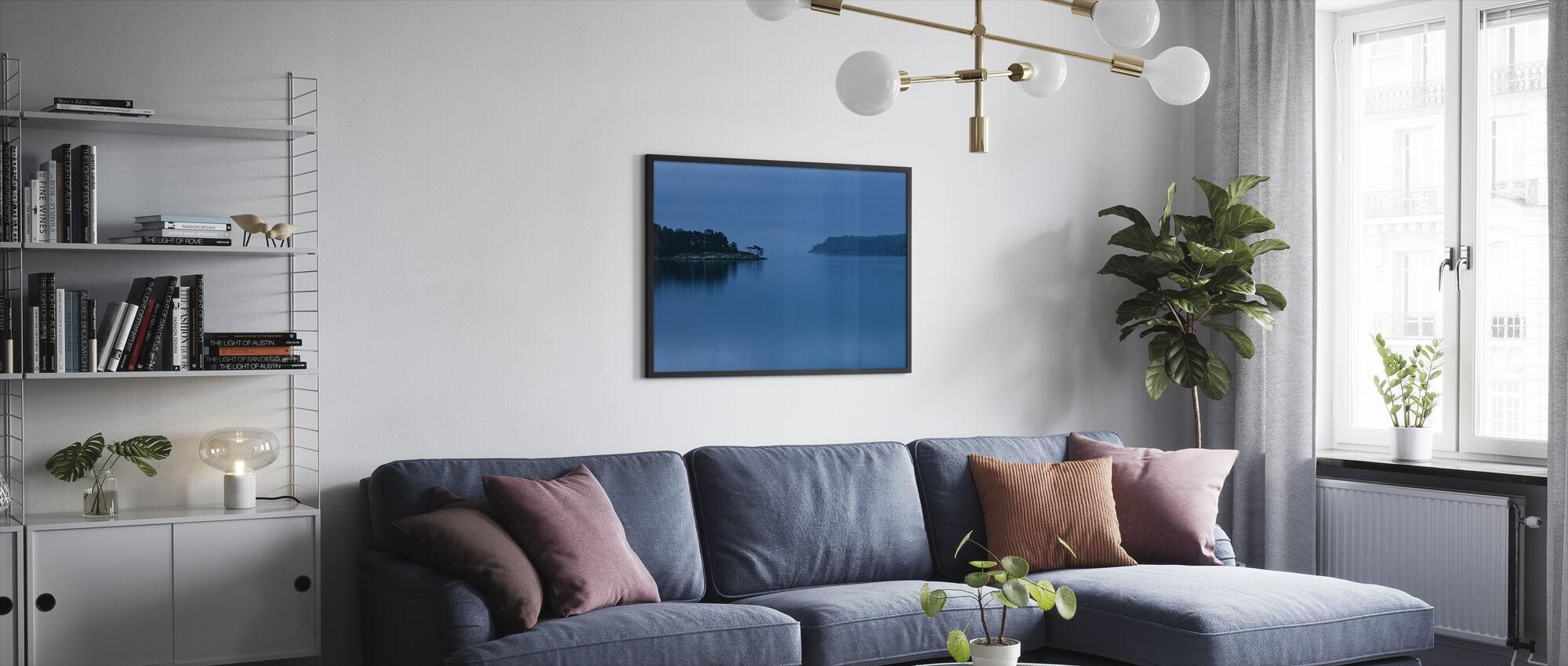 Dusk in Stockholm Archipelago - Framed print - Living Room