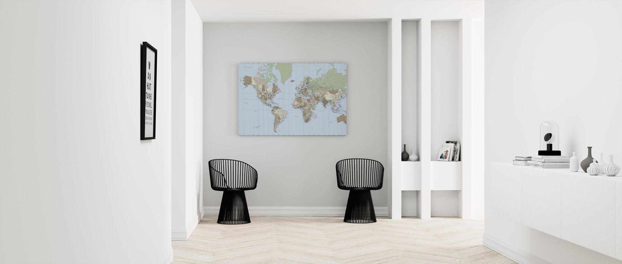 World Map Vintage - Canvas print - Hallway