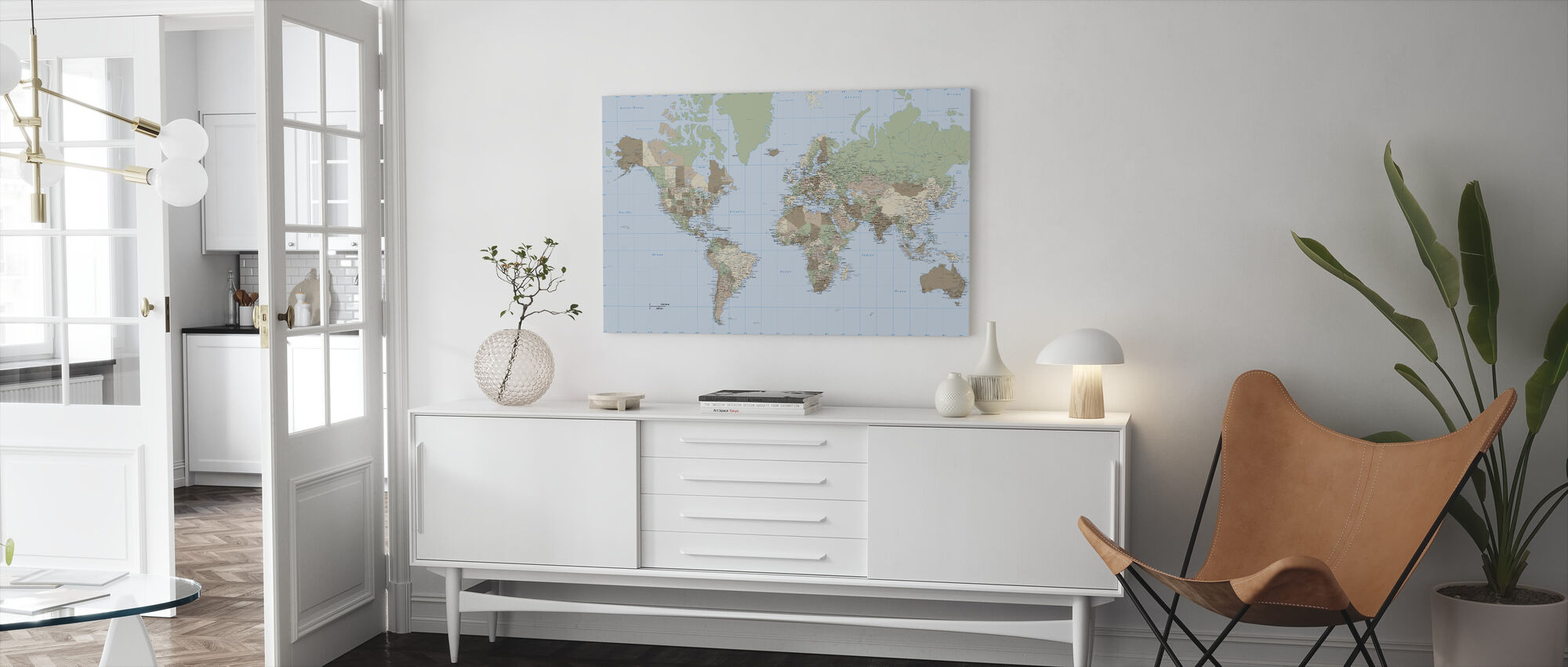 World Map Vintage - Canvas print - Living Room