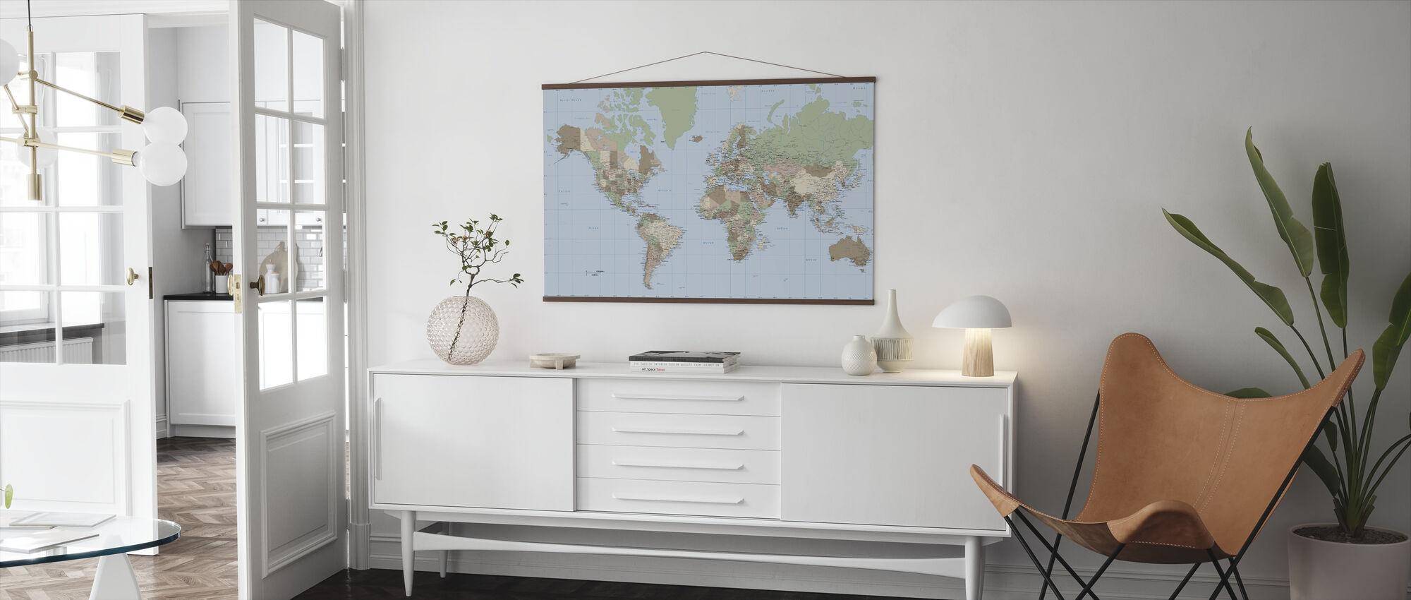 World Map Vintage - Poster - Living Room