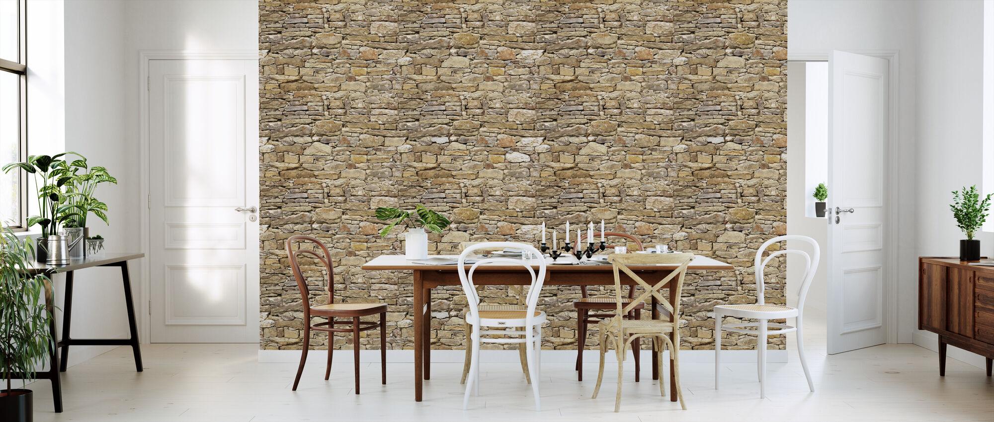 Rustik stenmur - Tapet - Kök