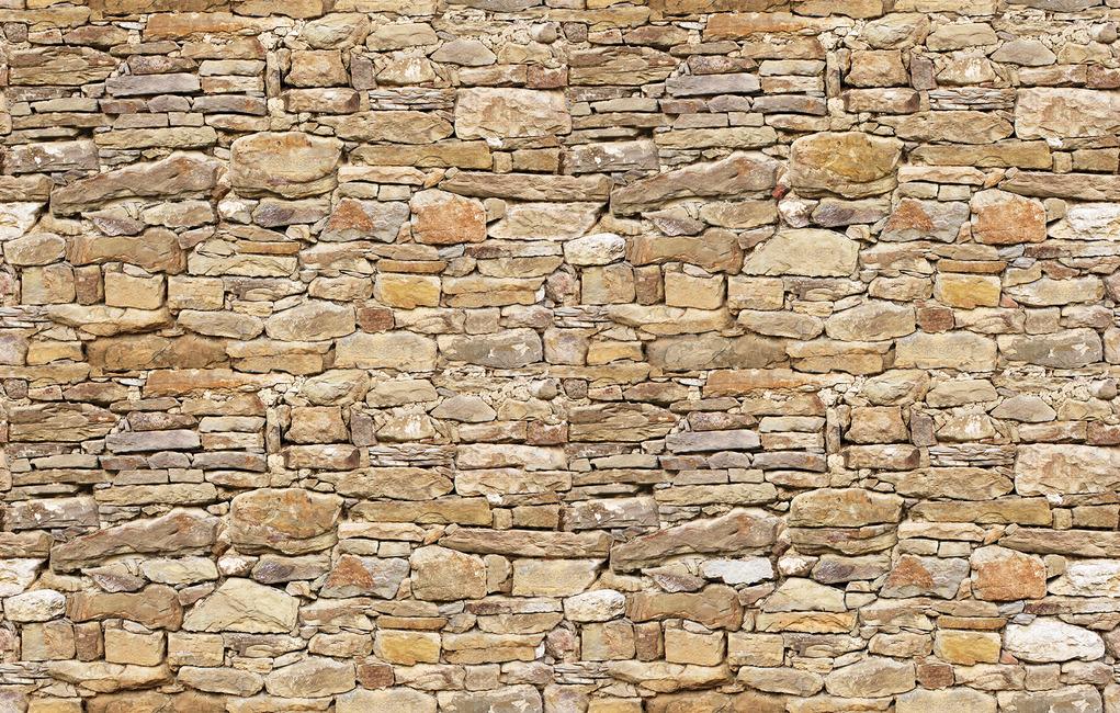 Rustic Stone Wall Fototapeter & Tapeter 100 x 100 cm