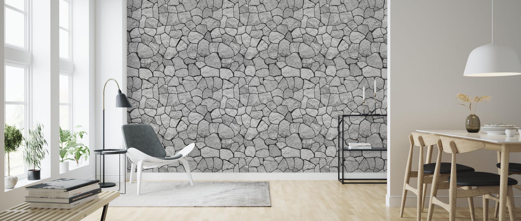 Granit vägg - Tapet - Vardagsrum