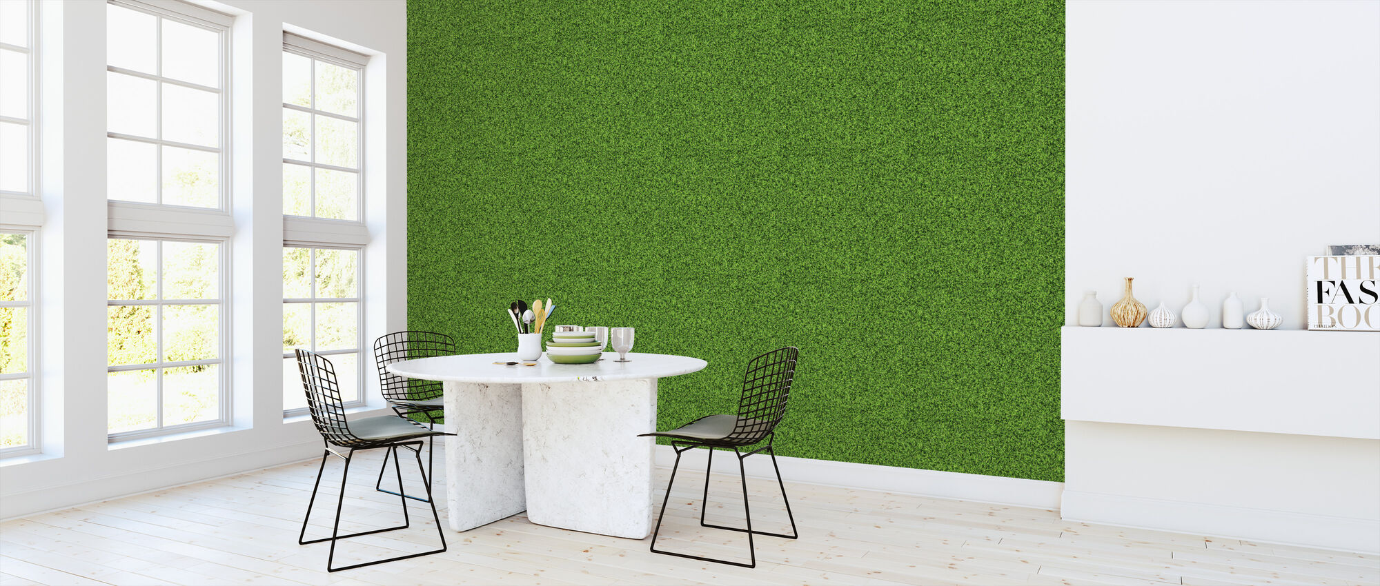 Green Lawn - Wallpaper - Kitchen